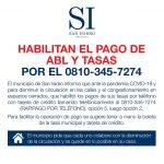 HABILITAN EL PAGO DE ABL Y TASAS TELEFÓNICAMENTE AL 0810 - 345 - 7274